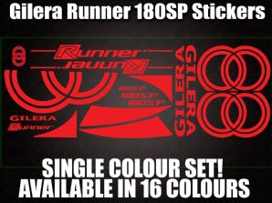 Gilera Runner 180 SP Large Decals/Stickers 50 70 125 172 183 210